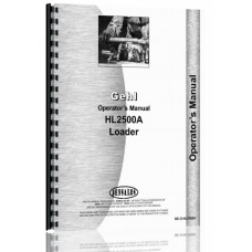 Gehl HL2500A Skid Steer Loader Operators Manual