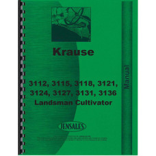 Krause 3112, 3115, 3118, 3121, 3124, 3127, 3131, 3136 Landsman Cultivator Operators & Parts Manual