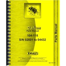 Galion Grader Parts Manual (GA-P-104-118)