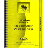 Galion 118 Grader Parts Manual (SN# MD22347 and Up) (MD22347+)