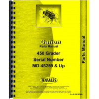 Image of Galion 450 Grader Parts Manual (SN# MD45259 and Up)