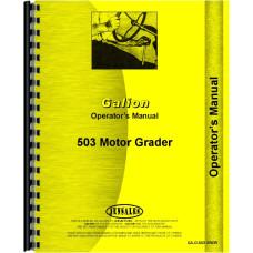 Galion 503 Grader Operators Manual