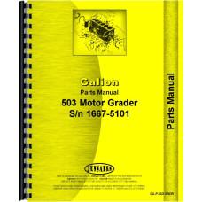 Galion 503 grader Parts Manual (Gas and Diesel)