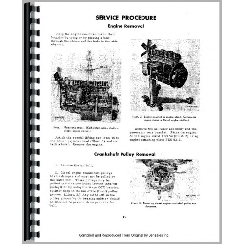 International Harvester 150 Track Loader Engine Service Manual