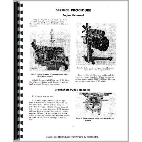 Hough H-60 Pay Loader IH Engine Service Manual
