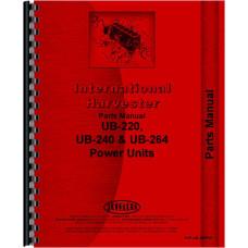 International Harvester UB240 Power Unit Parts Manual