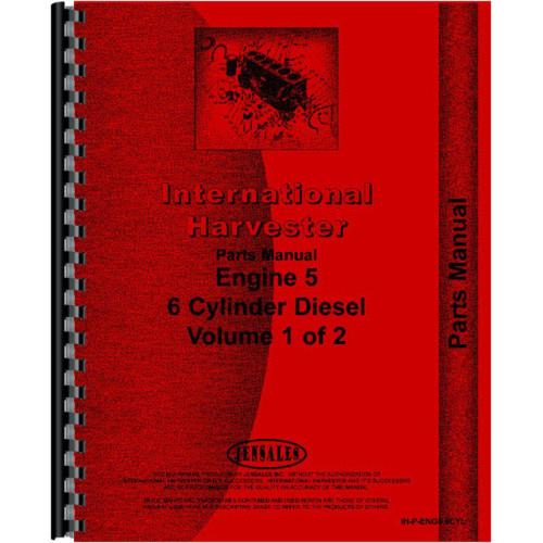 International Harvester 1460 Combine Engine Parts Manual All Sn