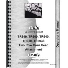 Gehl TR680 Corn Head Operators Manual