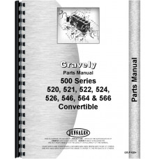 Image of Gravely 520, 521, 522, 524, 526, 546, 564, 566 Convertible Walk Behind Mower Parts Manual