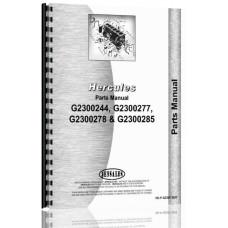 Hercules Engines G2300X244 Engine Parts Manual