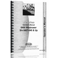 Image of Hesston 6400 Windrower Operators Manual (SN# 640T-640 and Up)