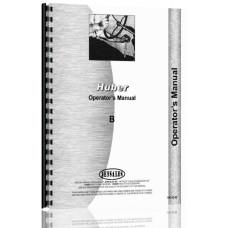 Huber B Tractor Operators Manual