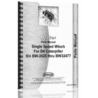 Image of Caterpillar D4 Hyster Winch Attachment Parts Manual (SN# 2T1 and Up, 4G1 and Up, 5T1 and Up, 7J1 and Up, SN#BW3525-BW32477) (D4)