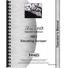 Hancock 10E2 Scraper Operators Manual