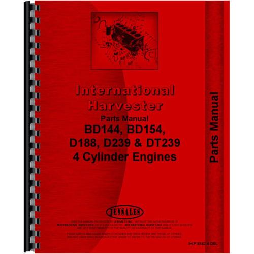 International Harvester BD154 Engine Parts Manual
