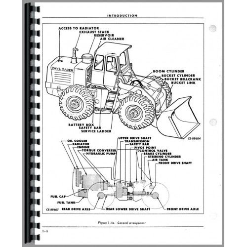 Hough H 60b Pay Loader Operators Manual