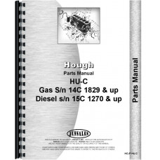 Hough HU-C Pay Loader Parts Manual (SN# 14C1829 & Up, 15C1270 & Up) (Chassis)