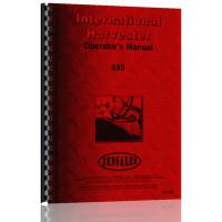 International Harvester 650 Tractor Operators Manual