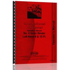 International Harvester 4 Grain Binder Operators Manual