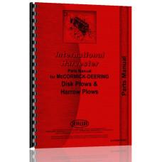 International Harvester 94-43 Disk Plow Parts Manual