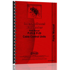 International Harvester TD24 Crawler Cable Control Attachment Parts Manual