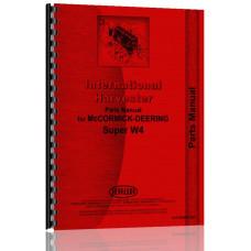Mccormick Deering W4 Tractor Parts Manual
