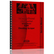 International Harvester E200 Elevating Pay Scraper Service Manual (SN# Below 2100)