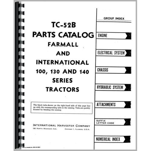 Farmall 130 Tractor Parts Manual 1956 1958