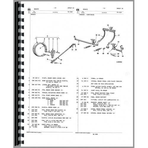 Farmall 140 Tractor Parts Manual  Chassis