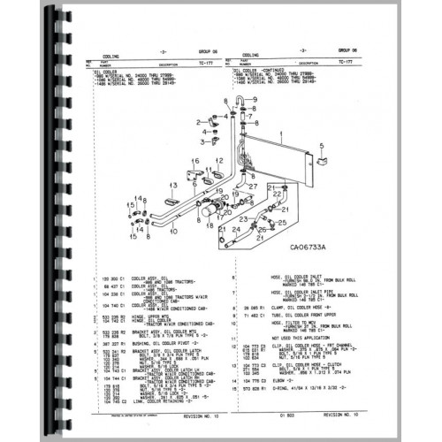 international harvester 986 tractor parts manual  chassis