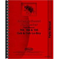 International Harvester Cub 185 Lo-Boy Tractor Parts Manual (1974-1976)
