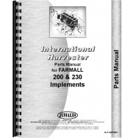International Harvester 230 Tractor Implements Parts Manual
