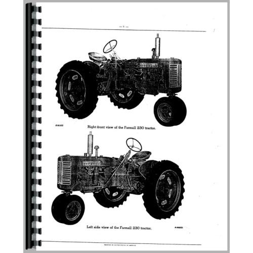 farmall 200 tractor parts manual