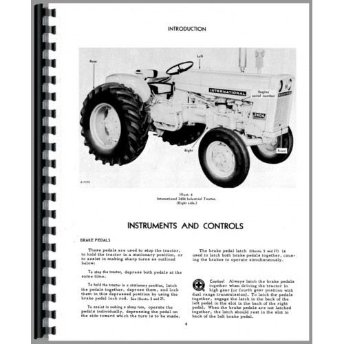 International Harvester 2404 Deluxe Tractor Manual Kit Patio, Lawn ...