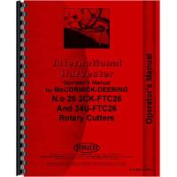 International Harvester Rotary Cutter Fast Hitch Operators Manual