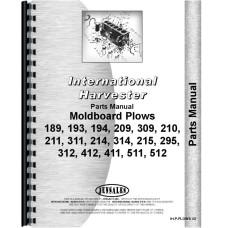International Harvester 214 Plow Parts Manual