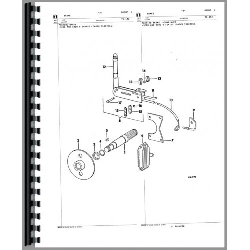 International Harvester 3200b Skid Steer Parts Manual Chassis