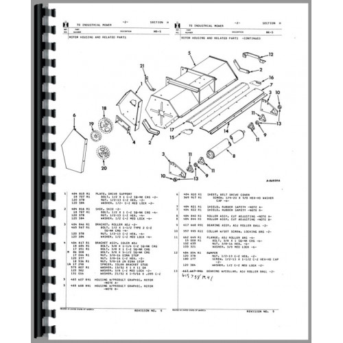 International Harvester 230 Sickle Bar Mower Parts Manual