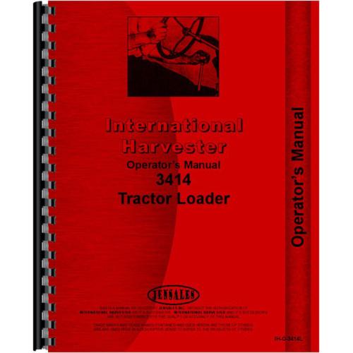 International Harvester 3414 Industrial Tractor Operators Manual on