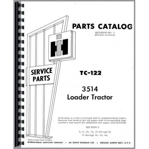 International Harvester Part Numbers : International harvester industrial tractor parts