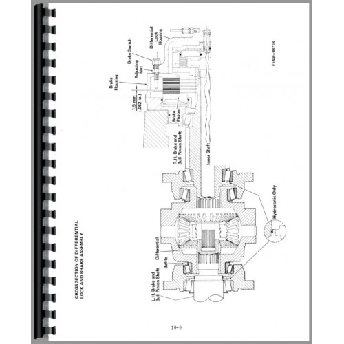international harvester 3288 tractor service manual  chassis