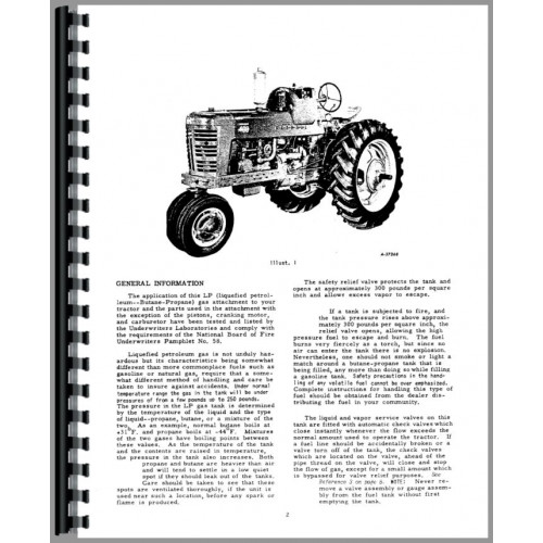 Farmall 400 Gas Tractor Operators Manual on