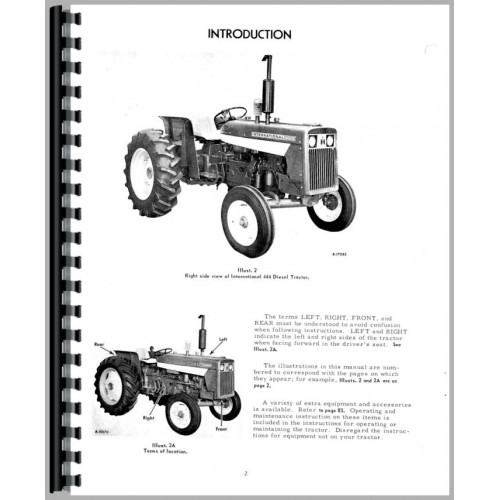[DIAGRAM_5UK]  International Harvester 444 Tractor Operators Manual (Gas and Diesel Only) | Ihc Farmall 444 Tractor Electrical Wiring Diagram |  | Jensales