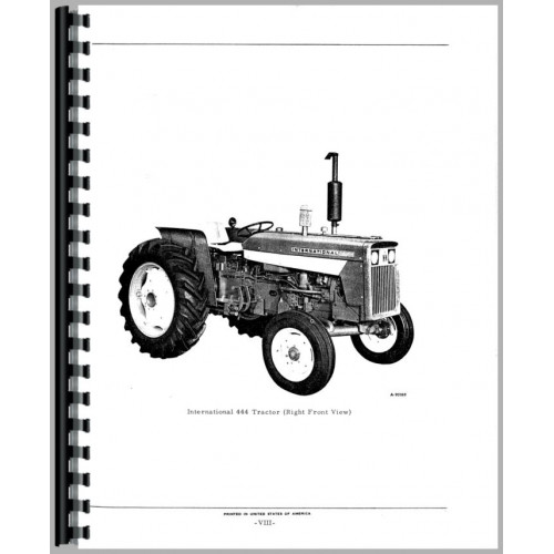 international harvester 444 tractor parts manual rh jensales com Case 444 Garden Tractor IH 424 Tractor Decals