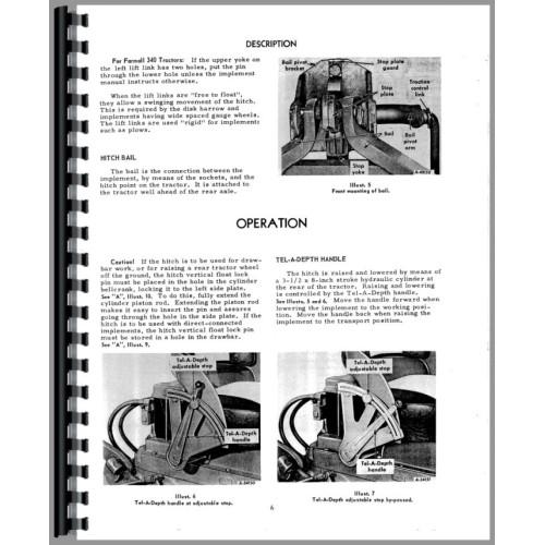 farmall 340 tractor 2 point hitch operators manual farmall rh jensales com 340 Farmall Rear Rims Mr 340 2013