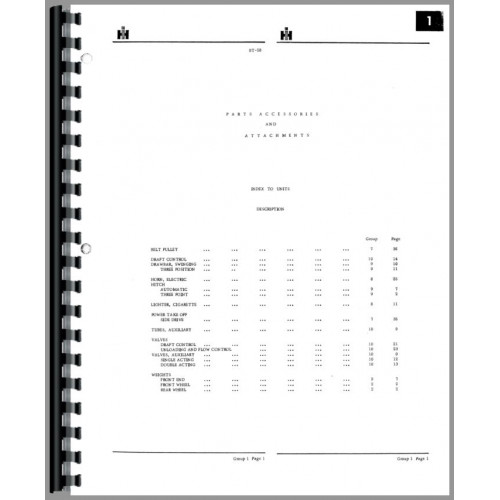 international harvester 474 tractor parts manual rh jensales com 574 International Tractor 454 International Tractor