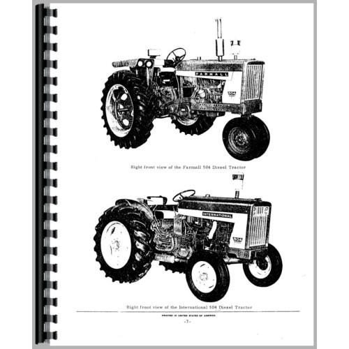 Farmall 504 Tractor Parts Manual
