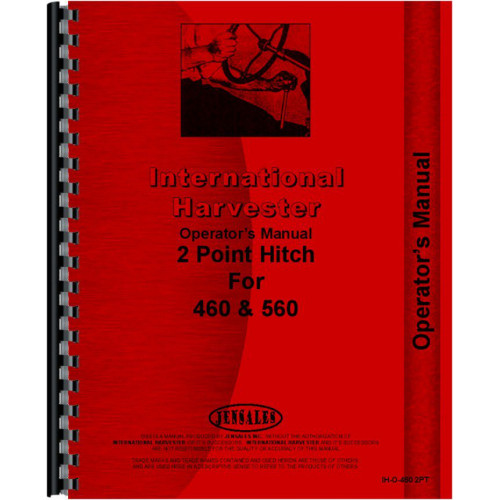 Farmall 460 Tractor 2 Point Hitch Operators Manual (2 Point Fast Hitch)