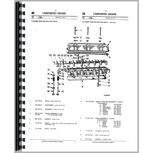 Farmall 560 Tractor Parts Manual on
