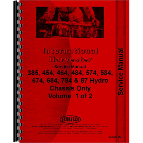 international harvester 484 tractor service manual 1977 1984 chassis rh jensales com 484 International Tractor Parts IH 484